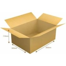 Kartondoboz, barna, 360x260x110mm